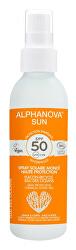 SUN opalovací krém sprej v recyklovatelném plastu SPF 50 BIO 125 g