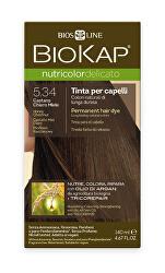 NUTRICOLOR DELICATO - Barva na vlasy - 5.34 Medová kaštanová 140 ml