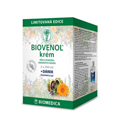 Limitovaná edice Biovenol krém 2 x 200 ml + DÁREK DEZINFEKČNÍ GEL 100 ml