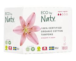 Dámské tampóny ECO by Naty  - normal (18 ks)