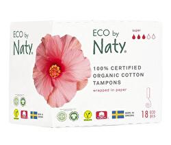 Dámské tampóny ECO by Naty  - super (18 ks)