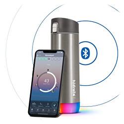 Nerezová chytrá lahev 620 ml, Bluetooth tracker, nerezová