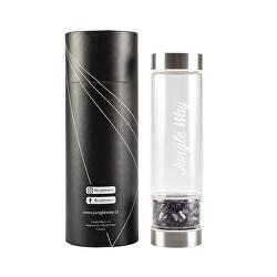 Designová skleněná láhev s ametystem 480 ml