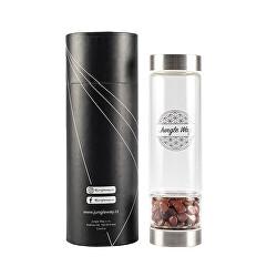 Designová skleněná láhev s jaspisem 480 ml