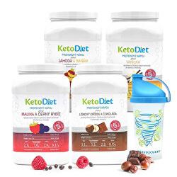 4 týdenní proteinové nápoje INTENSE 1. krok