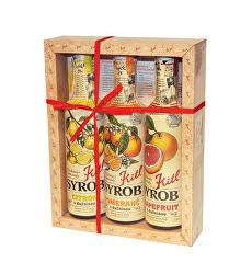 Syrob dárkové balení - Citrusy (Grep, Citron, Pomeranč) 3 x 500 ml