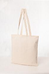 Bavlněná taška 16 l - dlouhé ručky krémová