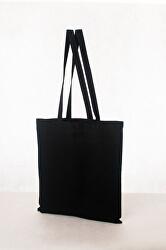 Bavlněná taška 16 l - dlouhé ručky černá
