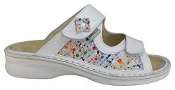 Biele zdravotné nazúvacie topánky s vyberateľnou stielkou