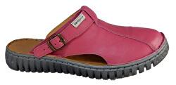 Zdravotné dámske fuchsiové nazúvacie topánky