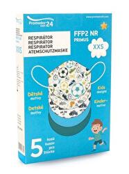 Respirátor FFP2 NR PRIMUS XXS 5 ks – chlapecký motiv