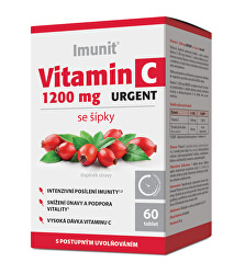 Vitamín C 1200 mg URGENT sa šípkami Imunit 60 tabliet