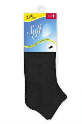 Dámske ponožky so zdravotným lemom nízke - čierne