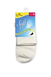 Dámske ponožky so zdravotným lemom stredné - biele