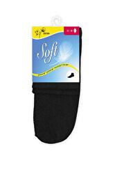 Dámske ponožky so zdravotným lemom stredné - čierne