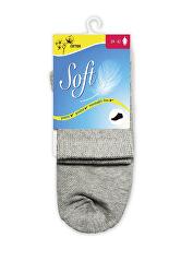 Dámske ponožky so zdravotným lemom stredné - šedé