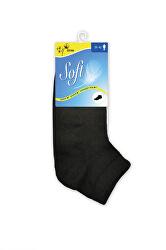Pánske ponožky so zdravotným lemom nízke - čierne