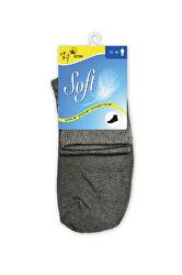 Pánske ponožky so zdravotným lemom stredné - antracitové