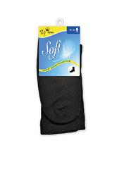 Pánske ponožky so zdravotným lemom vysoké - čierne