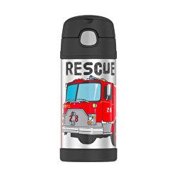 Detská termoska so slamkou - hasiči 355 ml