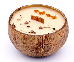 Gyertya kókuszhéjban - Incense & Orange (tömjén és narancs) illat