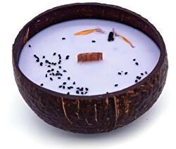 Sviečka z kokosu - vône Čučoriedka a vanilka