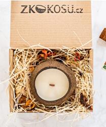 Sójová sviečka svôňou KOKOSU v darčekovom balení