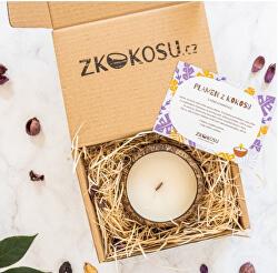 Sojová sviečka svôňou LEVANDULE v darčekovom balení