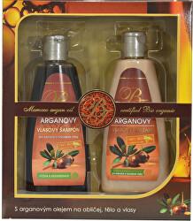 Dárková kazeta vlasové kosmetiky s arganovým olejem