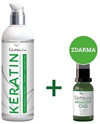 Keratin hloubková regenerační kúra 100 ml + Arganový olej 20 ml zdarma