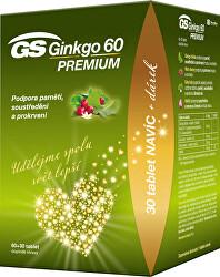 GS Ginkgo 60 Premium 60 + 30 tablet DARČEK 2021