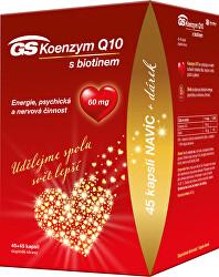 GS Koenzým Q10 60mg 45 + 45 kapslí DARČEK 2021