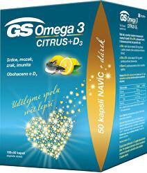 GS Omega 3 Citrus + D 100 + 50 kapslí DARČEK 2021