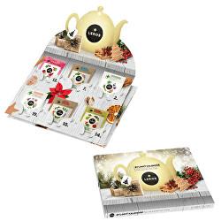 Nástěnný adventní kalendář bylinných čajů 24 ks