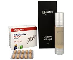Eregma Max Power 100 tbl. + 20 tbl. ZD ARMA + Erectan Exclusive intim gel 50 ml