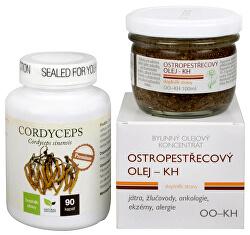Na Játra - Cordyceps Premium + Ostropestřecový olej (kaše)