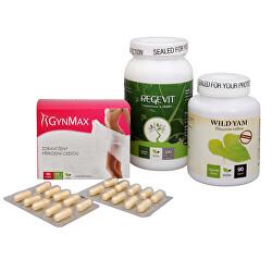 Na menštruáciu - Regevit + Gynmax + Wild Yam Premium