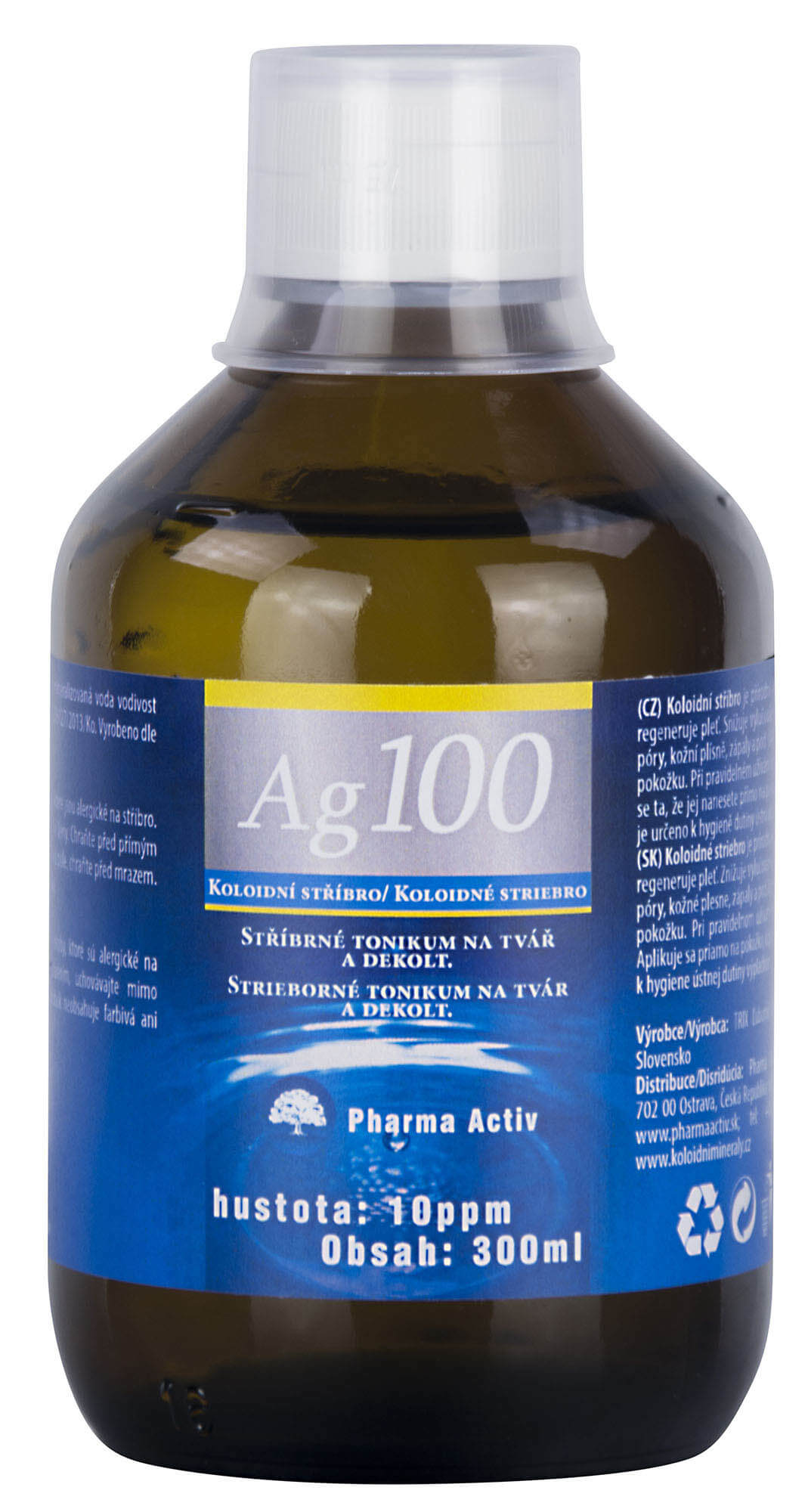 Natural Pharm Koloidné striebro Ag100 10ppm 300 ml