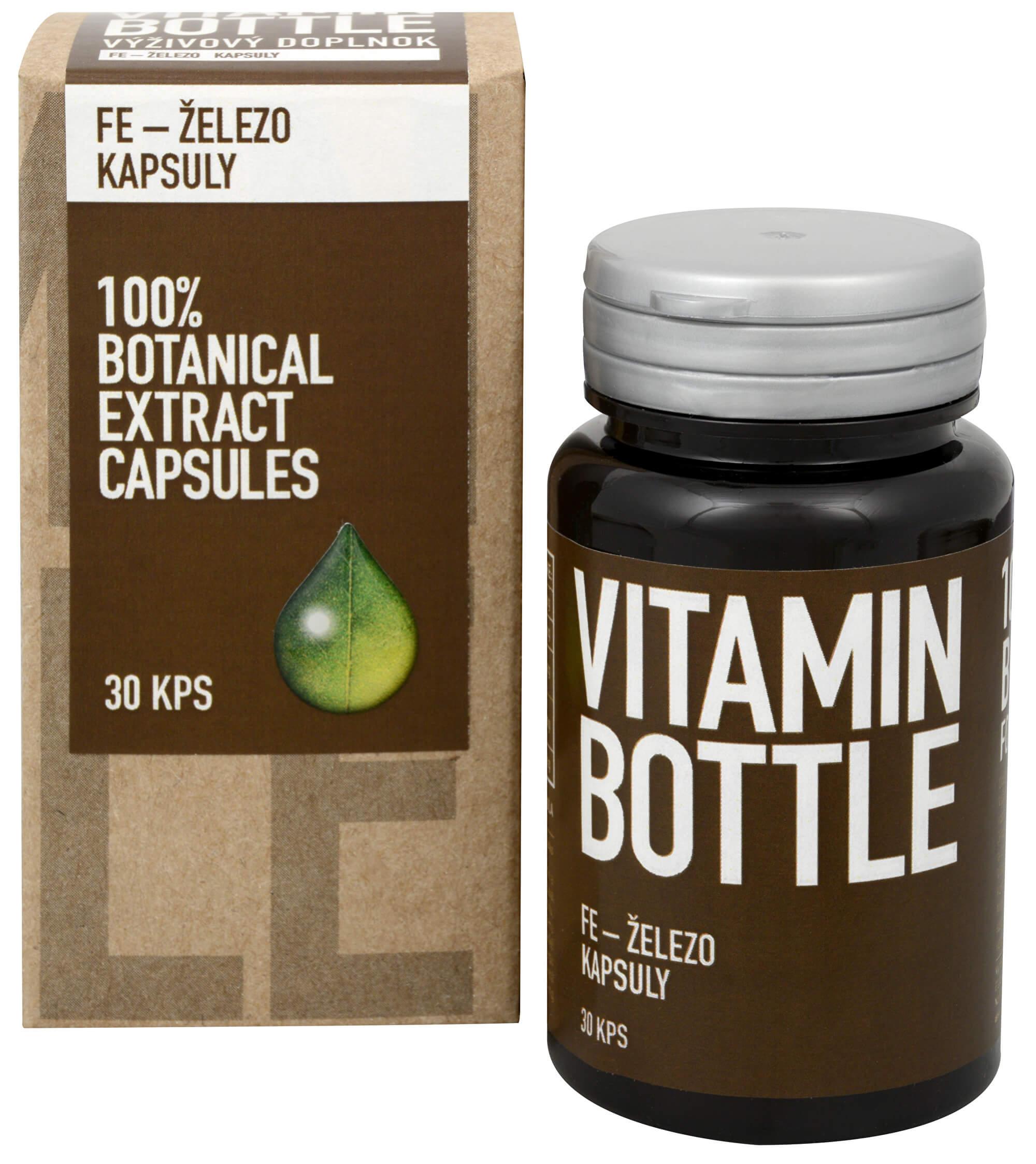 Vitamin Bottle Fe – železo 30 kapslí