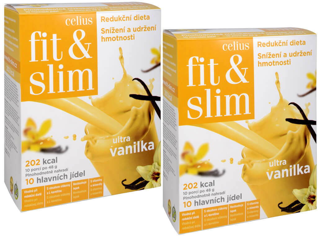 Celius Fit and Slim ultra Vanilka 480 g + vanilka 480 g