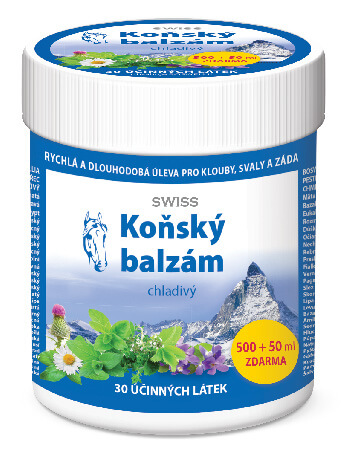 Simply You Koňský balzám SWISS chladivý 500 ml 50 ml ZDARMA