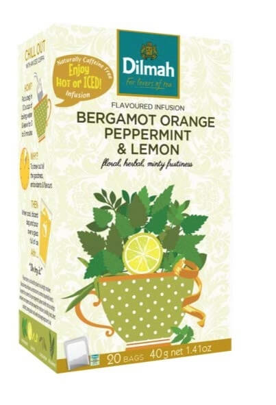 Dilmah Bergamot Orange Peppermint Lemon 20 x 2 g