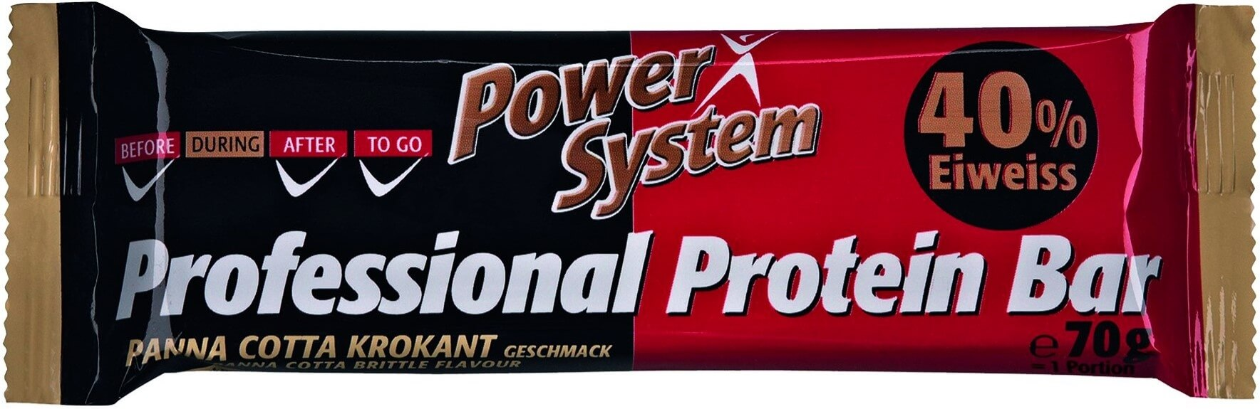 Power System Professional Protein Bar 40 percent Panna-Cotta Brittle 70 g
