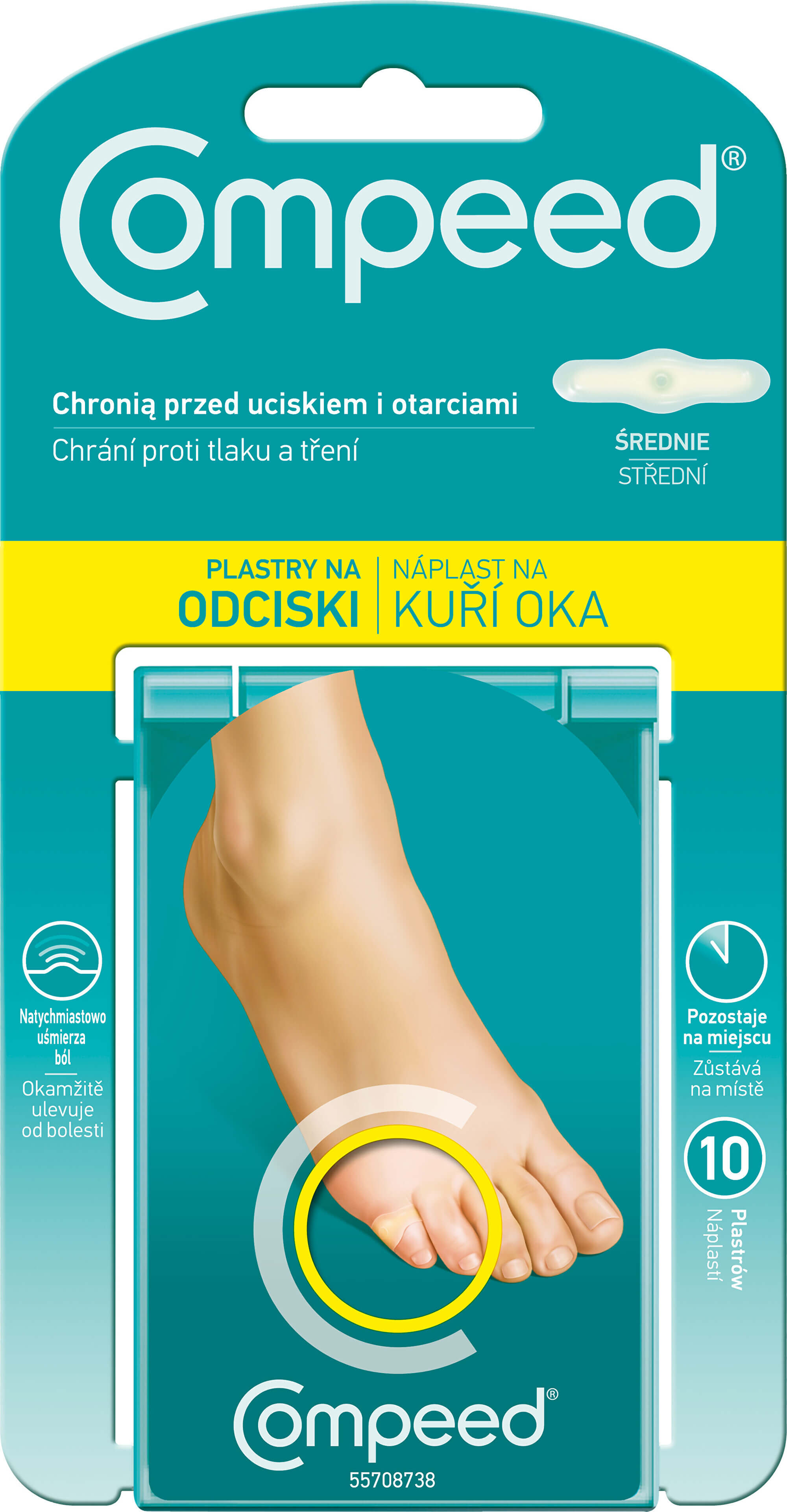 QUIES COMPEED Náplast na kuří oka 10 ks