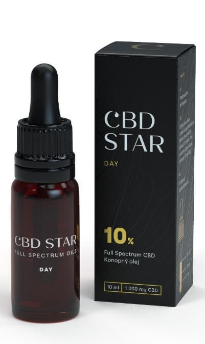 "CBD STAR CBD ""DAY"" OLEJ – 10 percent CBD 10 ml"