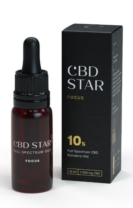 "CBD STAR CBD ""FOCUS"" OLEJ – 10 percent CBD 10 ml"