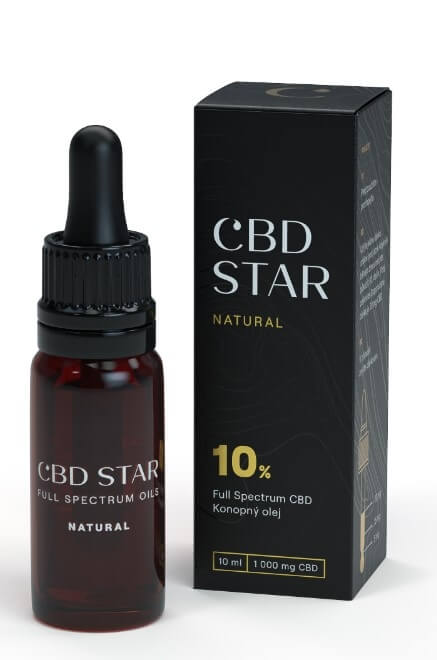 "CBD STAR CBD ""NATURAL"" OLEJ – 10 percent CBD 10 ml"