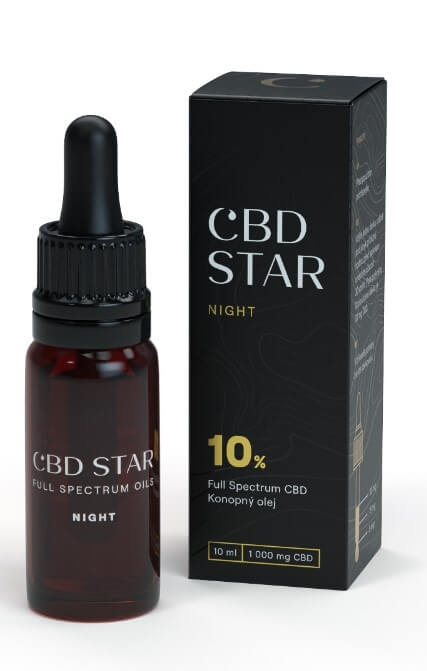 "CBD STAR CBD ""NIGHT"" OLEJ – 10 percent CBD 10 ml"