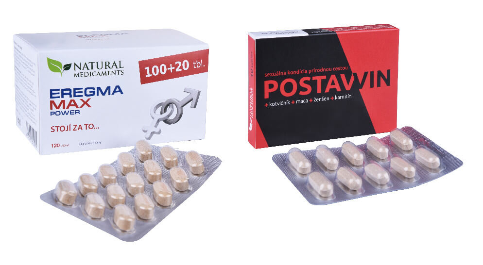 Natural Medicaments Postawin 10 tablet a Eregma MAX power 100 tbl. 20 tbl. ZDARMA