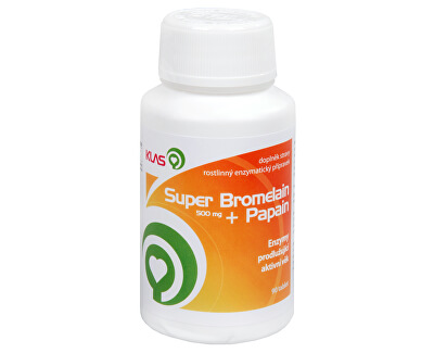 Super Bromelain 500 mg + Papain 90 tbl.